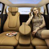 Espaciosa parte trasera del Opel Zafira 2011