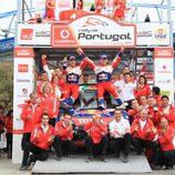 Ogier celebra su victoria en Portugal