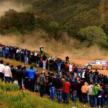 Hirvonen durante un tramo en Portugal 2011