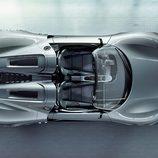 Vista superior del Porsche 918 Spyder