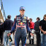 Carlos Sainz jr tras su victoria en Hockenheim 2011