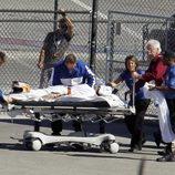 Dan Wheldon es trasladado al hospital tras su grave accidente