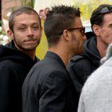 Valentino Rossi en el funeral de Marco Simoncelli
