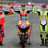 Los tres Campeones del Mundo de Motociclismo 2011