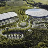 Vista aérea de la sede de McLaren en Woking