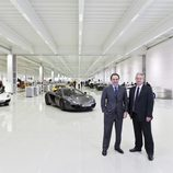 Los responsables del McLaren Production Centre