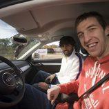 Fran Vázquez y Víctor Sada en el Audi Q3