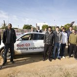 La plantilla del Regal Barça en la Audi Q3 'Driving Experience'