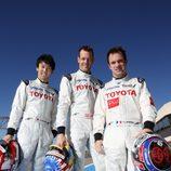 Kazuki Nakajima, Alex Wurz y Nicolas Lapierre, equipo Toyota