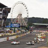 Primeras vueltas de las 24 h de Le Mans 2012