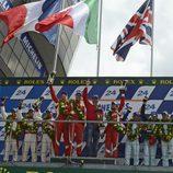 Podio de la GTE Pro en las 24 h de Le Mans 2012