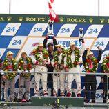 Podio de LMP2 en las 24 h de Le Mans 2012