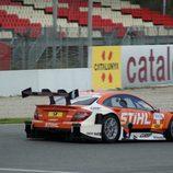 Roberto Merhi entrando a recta de meta