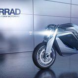 Vista lateral Audi e-tron Motorbike