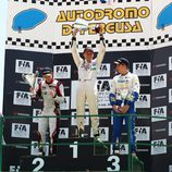 Jordi Oriola en el podio de la Monomarca