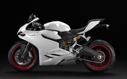 Ducati Panigale 899 blanca perfil