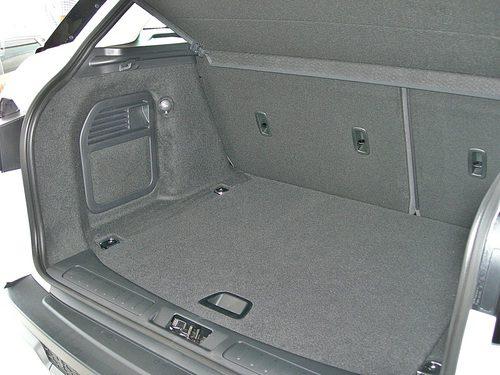 Range Rover Evoque vista capacidad maletero