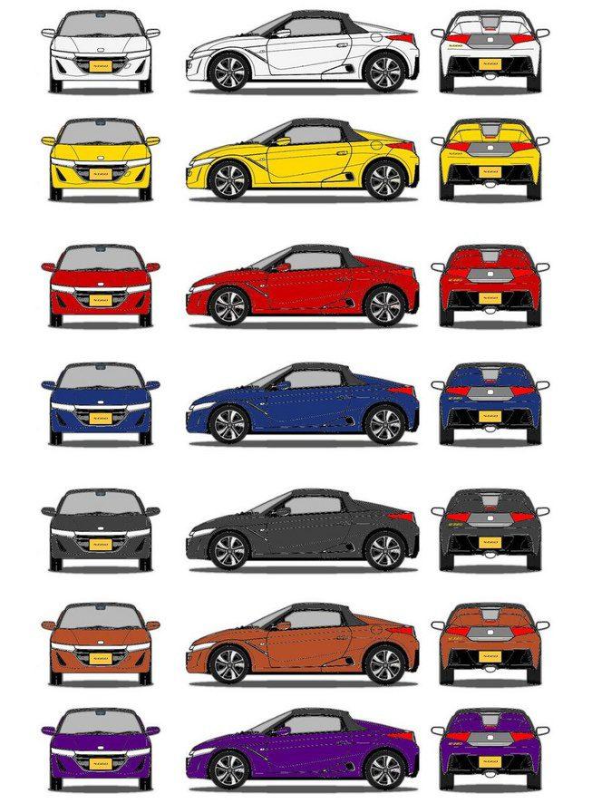 Honda S660 - colores