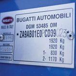 Bugatti EB110 GT - placa