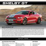 Shelby Mustang GT - Ficha técnica