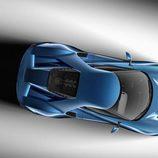 Ford GT concept Detroit 2015 - cenital