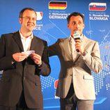 Richard Rodgers, FIA Media Delegate, con Francois Ribeiro, Director del WTCC