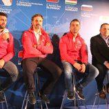Jose María López, Yvan Muller, Sebastien Loeb e Yves Matton