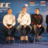 Rickard Rydell, Dusan Borkovic y Norbert Michelisz