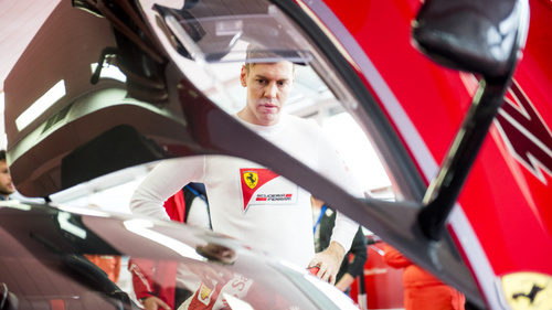 Sebastian Vettel en Fiorano