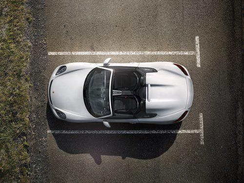 Porsche Boxster Spyder 2015 vista aérea