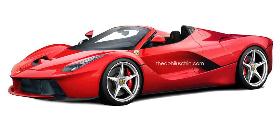 Ferrari LaFerrari Spider render