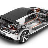 Volkswagen GTE Sport Concept - radiografía trasera