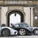 Porsche 918 Spyder, 959 y Carrera GT - side