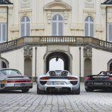 Porsche 918 Spyder, 959 y Carrera GT - rear
