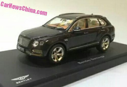 Nuevo Bentley Bentayga modelo a escala