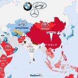 Marcas más buscadas en Google 2014 - Asia