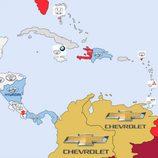 Marcas más buscadas en Google 2014 - América central