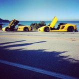 Ferrari LaFerrari y Lamborghini Aventador roadster