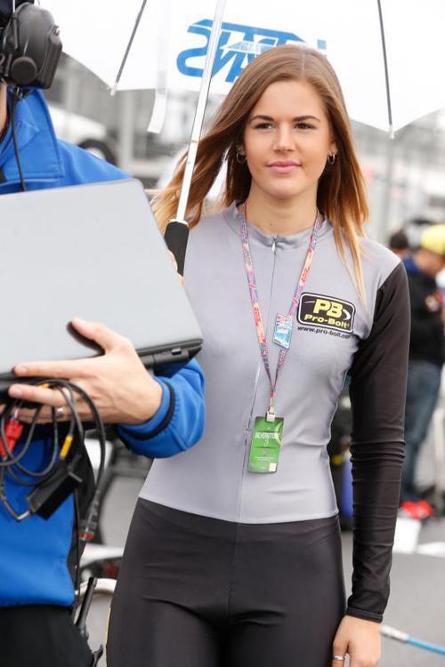 Paddock Girl de Italtrans en el GP Gran Bretaña