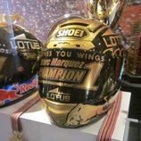 Exposición Marc Márquez - casco campeón MotoGP 2014