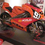 Exposición Marc Márquez - moto campeonato de España y mundial 125cc