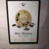 Exposición Marc Márquez - diploma campeón del Mundo Moto2 2012