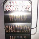 Exposición Marc Márquez - pizarra campeón del Mundo Moto2 2012