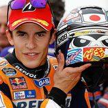 Casco especial 2015 Japón Marc Márquez - detrás
