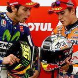 Casco especial 2015 Japón Marc Márquez con Valentino Rossi