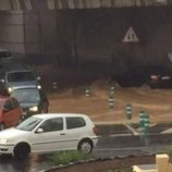 Temporal de lluvia en Gran Canaria - atascos