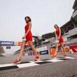 Paddock Girls del GP de Malasia 2015 - paseo Shell