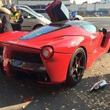 Ferrari LaFerrari accidentado - rear