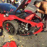 Ferrari LaFerrari accidentado - detalle