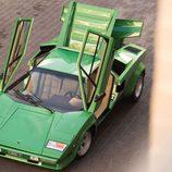Lamborghini Countach LP400S Verde - Vista superior
